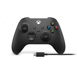 MANETTE BLUETOOTH XBOX NOIRE + CABLE TYPE C - Accessoires Xbox Series au prix de 59,95€