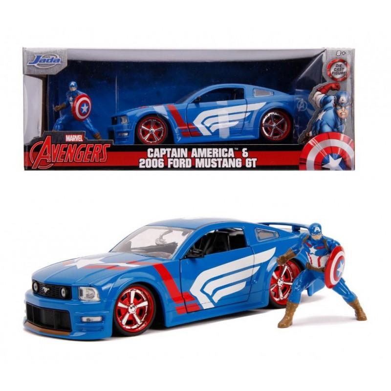 REPLIQUE MARVEL CAPTAIN AMERICA FOR MUSTANG GT - Figurines au prix de 34,95€