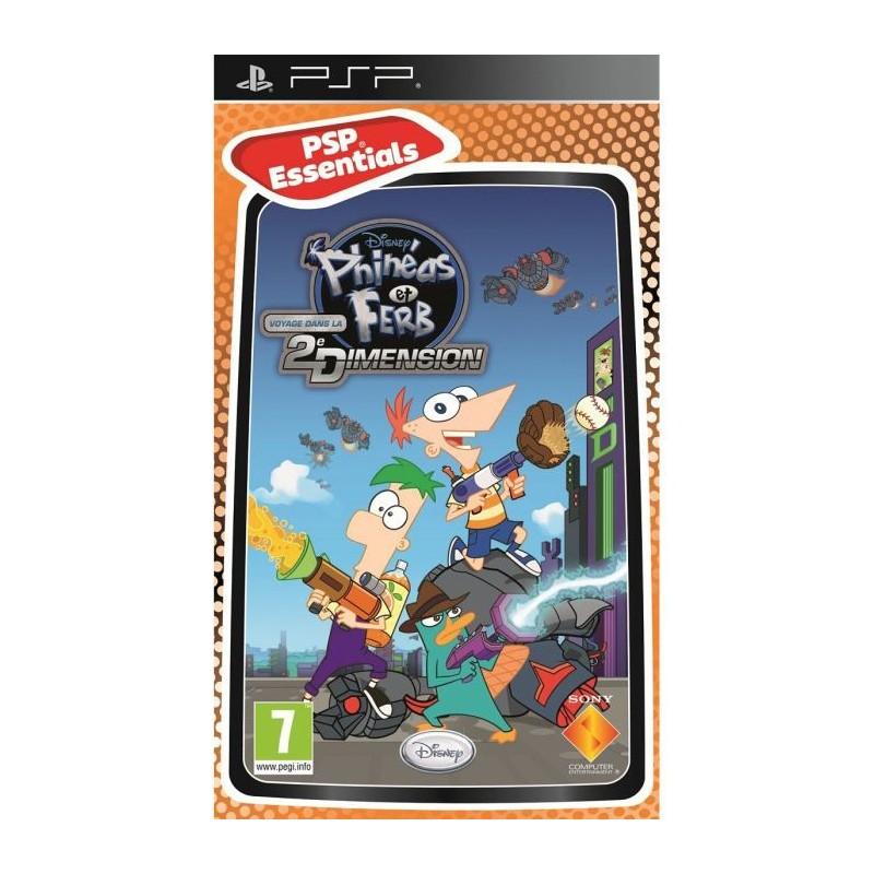 PSP PHINEAS ET FERB VOYAGE DANS LA DEUXIEME DIMENSION (ESSENTIALS) - Jeux PSP au prix de 4,95€