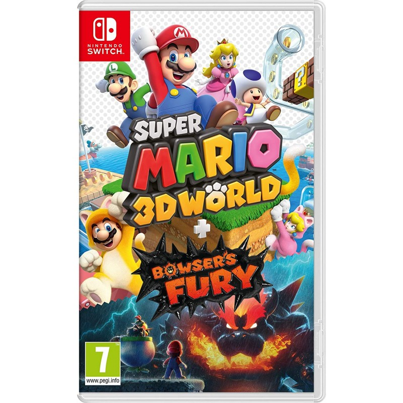 SWITCH SUPER MARIO 3D WORLD + BOWSER S FURY OCC - Jeux Switch au prix de 39,95€