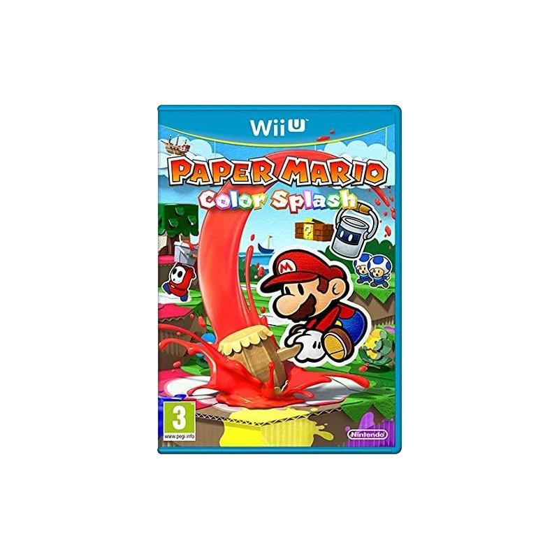 WIU PAPER MARIO COLOR SPLASH ( SOUS BLISTER ) - Jeux Wii U au prix de 17,95€