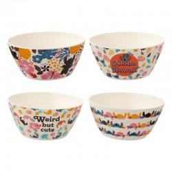 SET DE 4 BOLS DISNEY LILO ET STICH ALOHA HAWAI - Mugs au prix de 12,95€