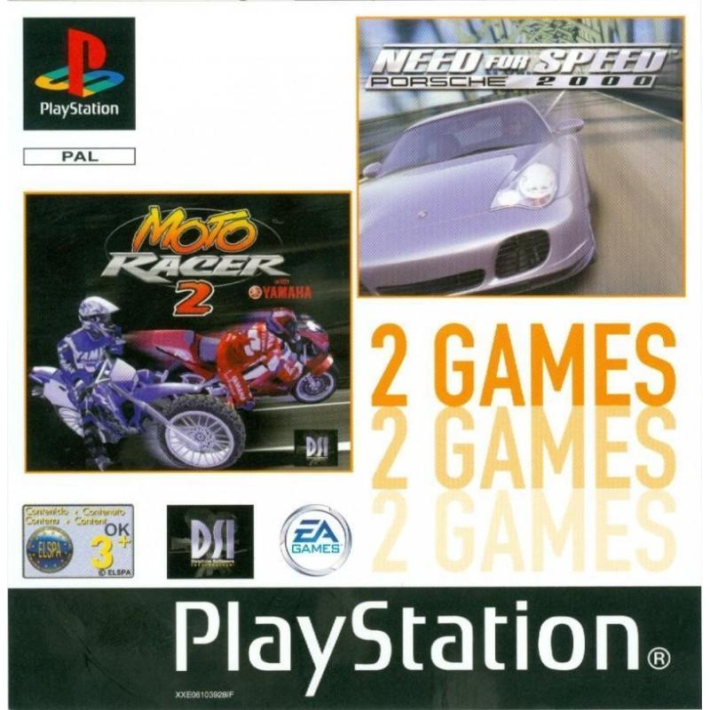 PSX MOTO RACER 2 ET NEED FOR SPEED PORSCHE 2000 - Jeux PS1 au prix de 6,95€