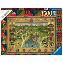 PUZZLE HARRY POTTER CARTE DE POUDLARD 1500 PIECES - Puzzles & Jouets au prix de 24,95€