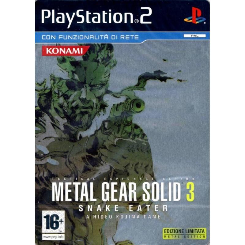 PS2 METAL GEAR SOLID 3 SNAKE EATER BOITE METAL - Jeux PS2 au prix de 9,95€