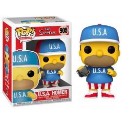 POP LES SIMPSON 905 USA HOMER - Figurines POP au prix de 14,95€