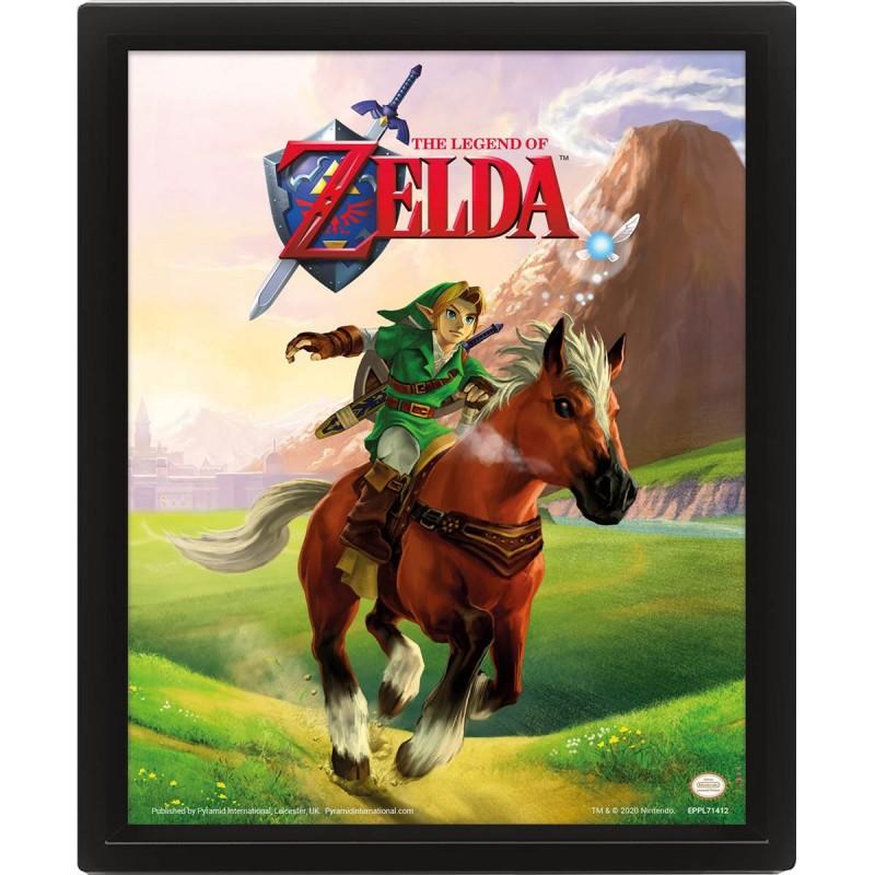 CADRE 3D THE LEGEND OF ZELDA GALOP 29X24CM - Autres Goodies au prix de 14,95€