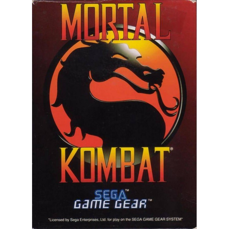 GG MORTAL KOMBAT - Game Gear au prix de 5,95€