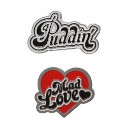 PINS HARLEY QUINN PUDDIN AND MAD LOVE - Autres Goodies au prix de 9,95€