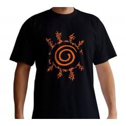 T SHIRT NARUTO SCEAU ORANGE TAILLE L - Textile au prix de 19,95€