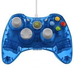 MANETTE FILAIRE X360 BLEUE ROCK CANDY - Accessoires Xbox 360 au prix de 24,95€