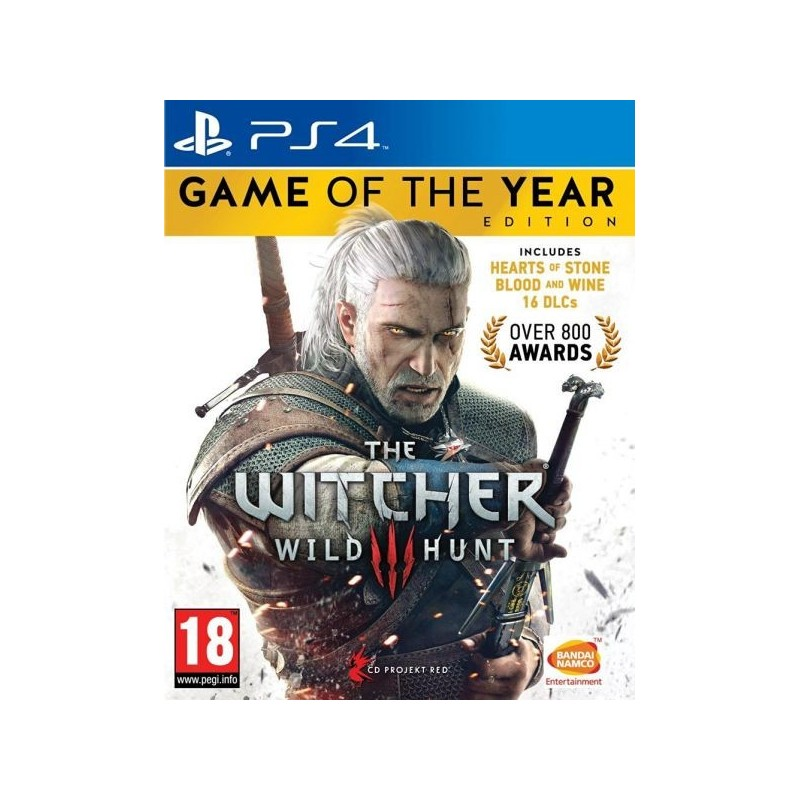 PS4 THE WITCHER 3 GOTY - Jeux PS4 au prix de 29,95 €