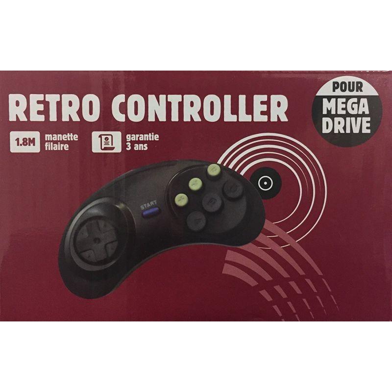 MANETTE FILAIRE MEGA DRIVE RETRO CONTROLLER - Accessoires Mega Drive au prix de 9,95€