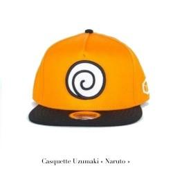 CASQUETTE NARUTO LOGO KONOHA ORANGE NOIR - Casquettes au prix de 19,95€