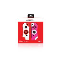 PAIRE JOYCON SWITCH ROUGE BLANC UNDERCONTROL - Accessoires Switch au prix de 49,95€