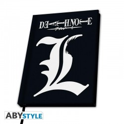 NOTEBOOK DEATH NOTE L NOIR A5 - Papeterie au prix de 9,95 €