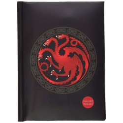 NOTEBOOK GAME OF THRONES CAHIER LUMINEUX TARGARYEN - Papeterie au prix de 14,95 €