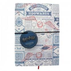 NOTEBOOK HARRY POTTER A5 QUIDDITCH FABRIC - Papeterie au prix de 9,95€