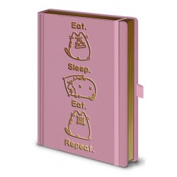 NOTEBOOK PUSHEEN EAT SLEEP REAPEAT A5 - Papeterie au prix de 12,95 €