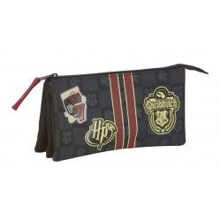 TROUSSE HARRY POTTER TRIPLE GRYFFONDOR 21 CM - Papeterie au prix de 12,95€