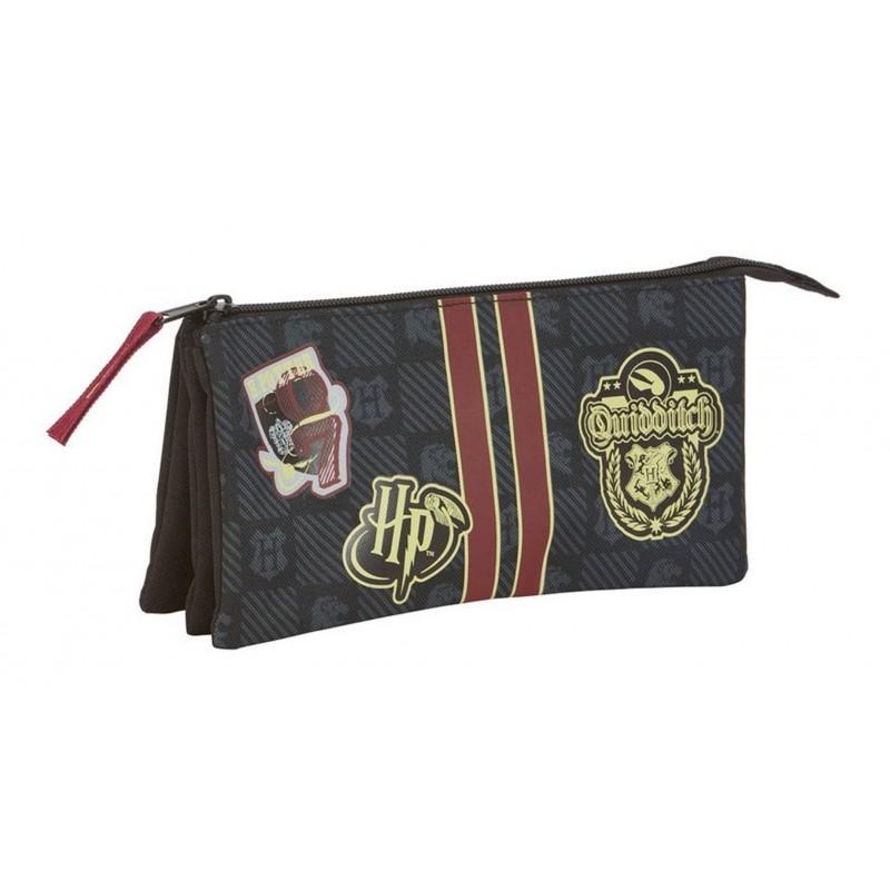 TROUSSE HARRY POTTER TRIPLE GRYFFONDOR 21 CM - Papeterie au prix de 9,95€