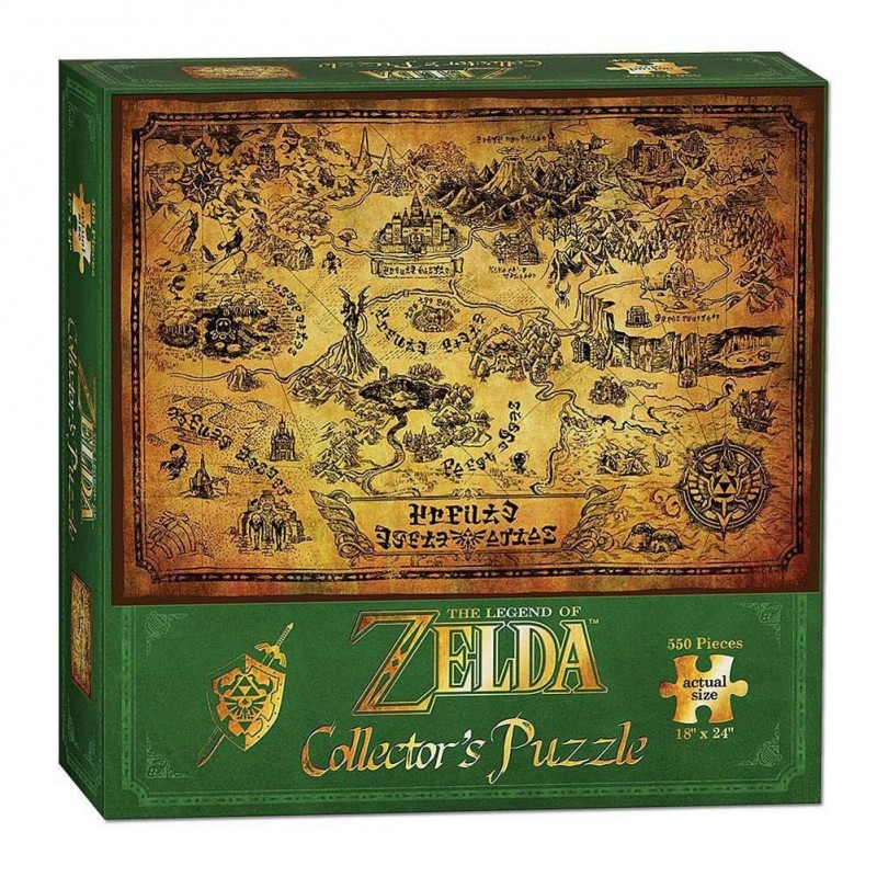 PUZZLE ZELDA CARTE HYRULE EDITION COLLECTOR 550 PIECES - Puzzles au prix de 14,95€
