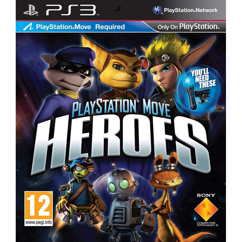 PS3 PLAYSTATION MOVE HEROES - Jeux PS3 au prix de 7,95€